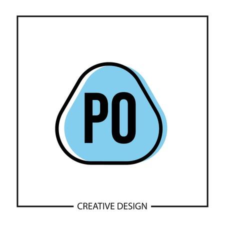 Initial PO Letter Logo Template Design Banco de Imagens - 112711490