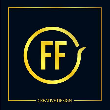 Initial FF Letter Logo Template Design Ilustrace
