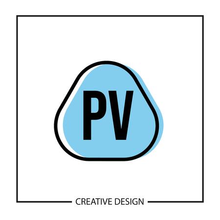 Initial PV Letter Logo Template Design