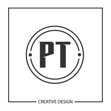 Initial PT Letter Logo Template Design Logó
