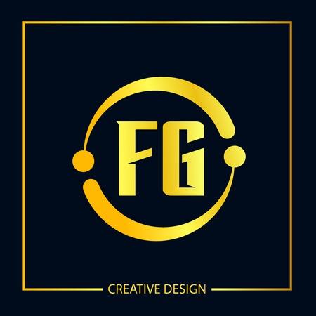 Initial FG Letter Logo Template Design Stock Vector - 112645276