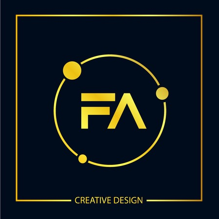 Initial FA Letter Logo Template Design