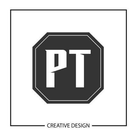 Initial PT Letter Logo Template Design