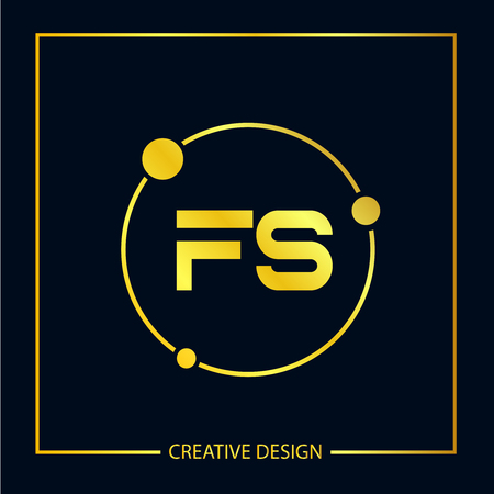 Initial FS Letter Logo Template Design Banco de Imagens - 112645732