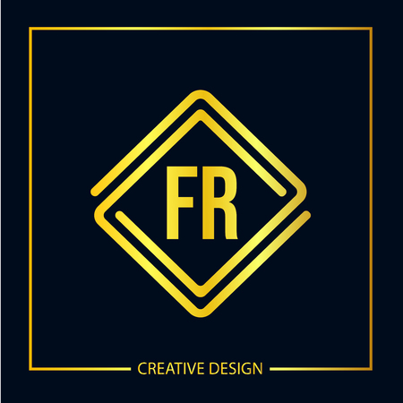 Initial FR Letter Logo Template Design