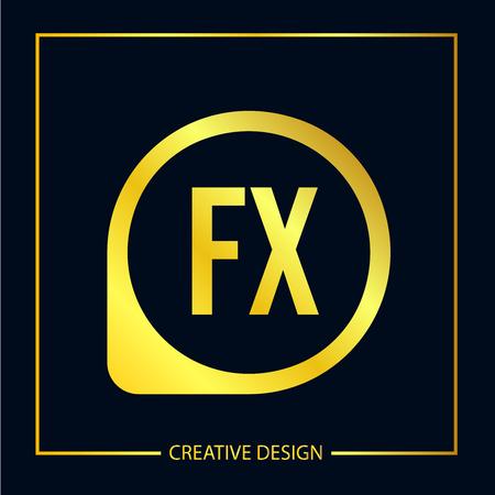 Initial FX Letter Logo Template Design Иллюстрация