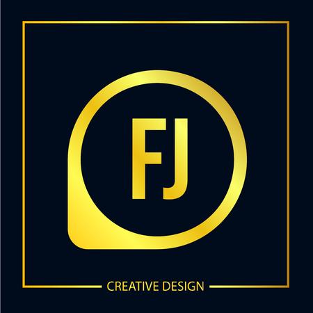 Initial FJ Letter Logo Template Design