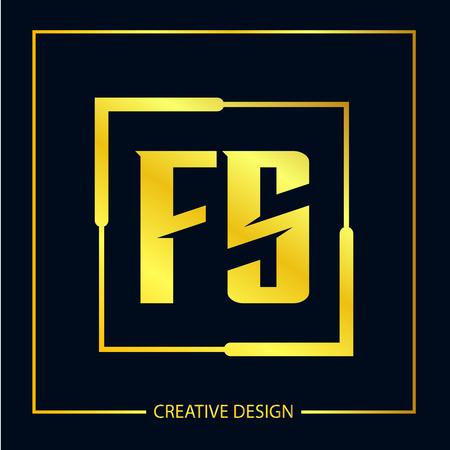 Initial FS Letter Logo Template Design
