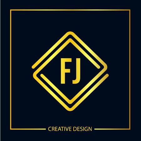 Initial FJ Letter Logo Template Design Logó