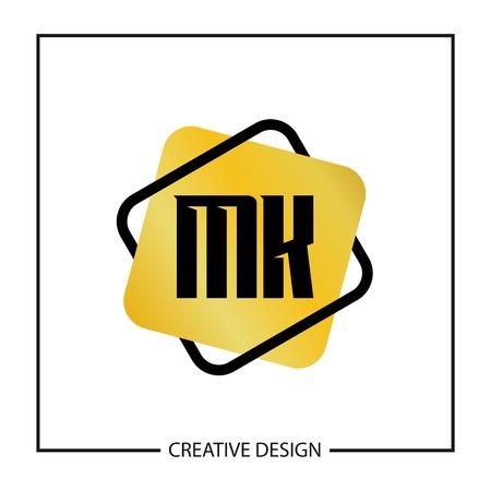 Initial Letter MK Logo Template Design Logó