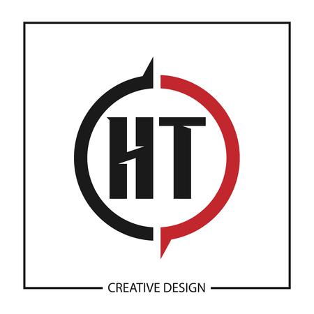 Initial Letter HT Logo Template Design Illustration