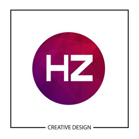 Initial Letter HZ Logo Template Design Logó