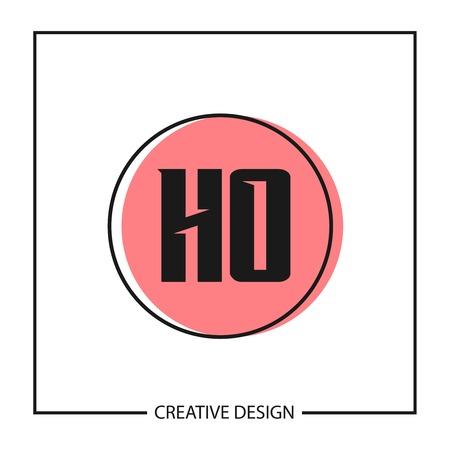 Initial Letter HO Logo Template Design
