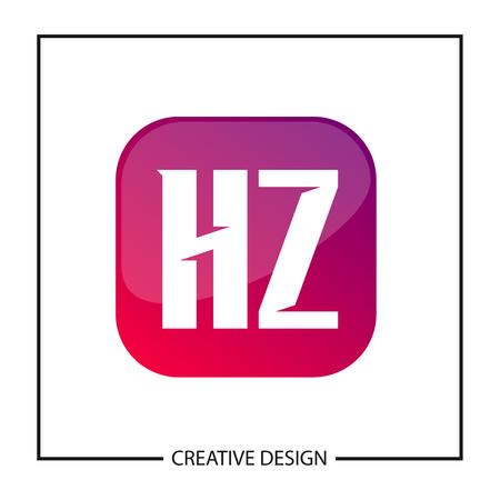 Initial Letter HZ Logo Template Design