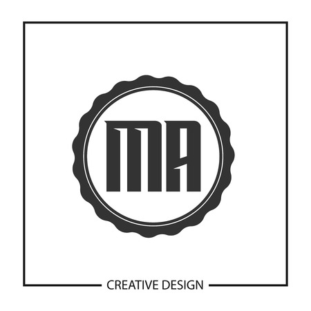 Initial Letter MA Logo Template Design