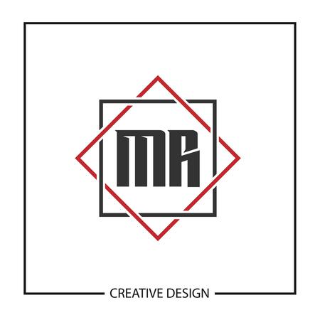 Initial Letter MR Logo Template Design