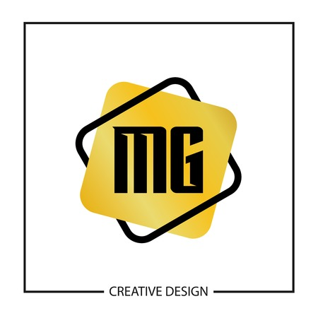 Initial Letter MG Logo Template Design 向量圖像