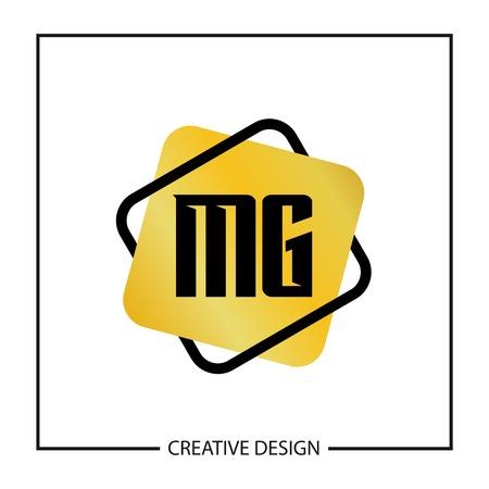 Initial Letter MG Logo Template Design Illusztráció