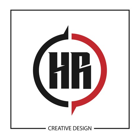 Initial Letter HR Logo Template Design Logó