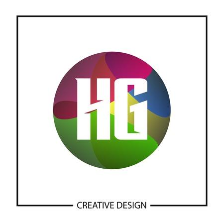 Initial Letter HG Logo Template Design