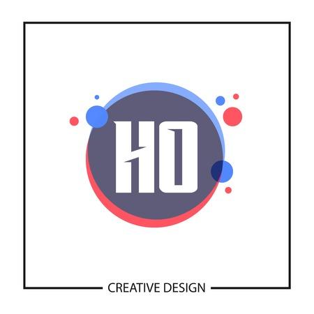 Initial Letter HO Logo Template Design Logo