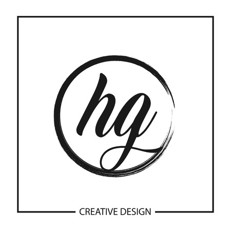 Initial Letter HG Logo Template Design Logó