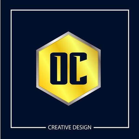 Initial Letter OC Logo Template Design Logo