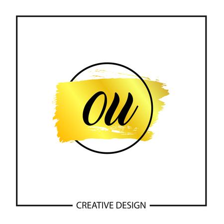 Initial Letter OU Logo Template Design