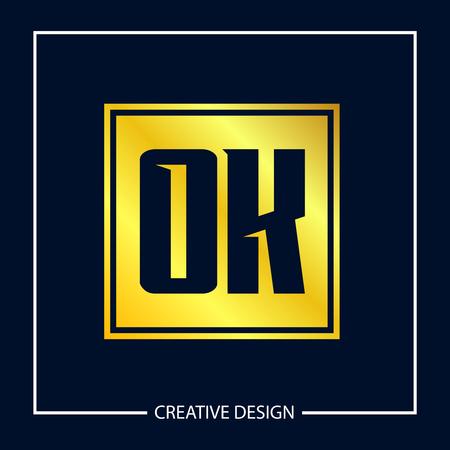 Initial Letter OK Logo Template Design