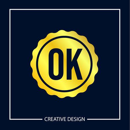 Initial Letter OK Logo Template Design Logo