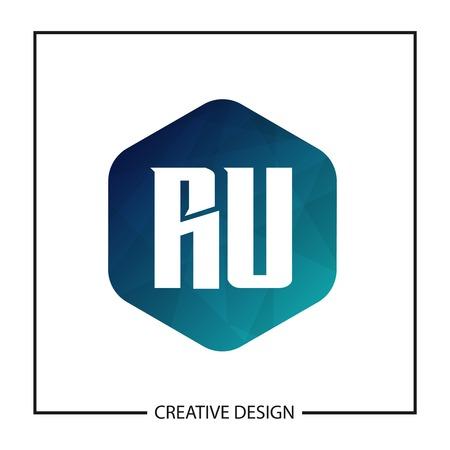 Initial Letter RU Logo Template Design