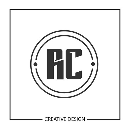 Initial Letter RC Logo Template Design