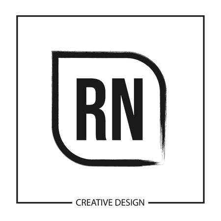 Initial Letter RN Logo Template Design Logo