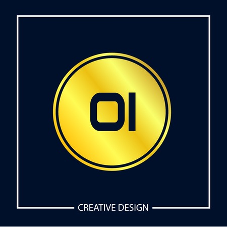 Initial Letter OI Logo Template Design