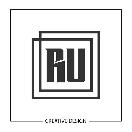 Initial Letter RU Logo Template Design Logó