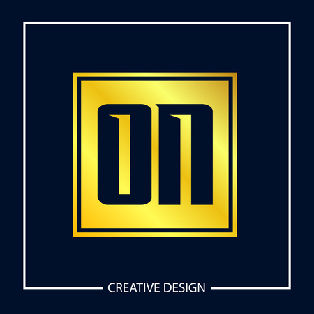 Initial Letter ON Logo Template Design