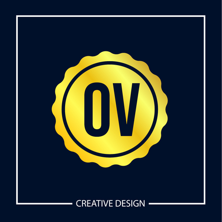 Initial Letter OV Logo Template Design