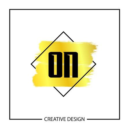 Initial Letter ON Logo Template Design