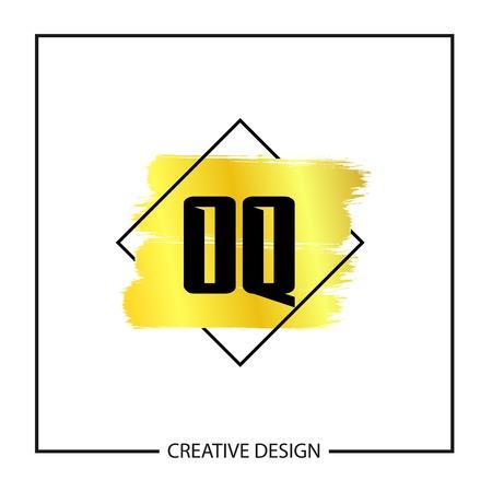 Initial Letter OQ Logo Template Design Ilustração