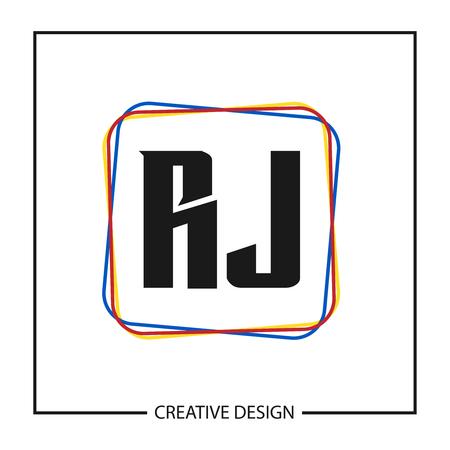 Initial Letter RJ Logo Template Design Logo
