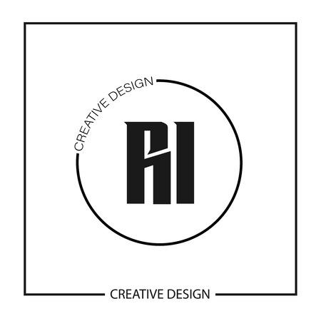Initial Letter RI Logo Template Design Stock fotó - 112646135