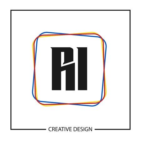 Initial Letter RI Logo Template Design Stock fotó - 112646077