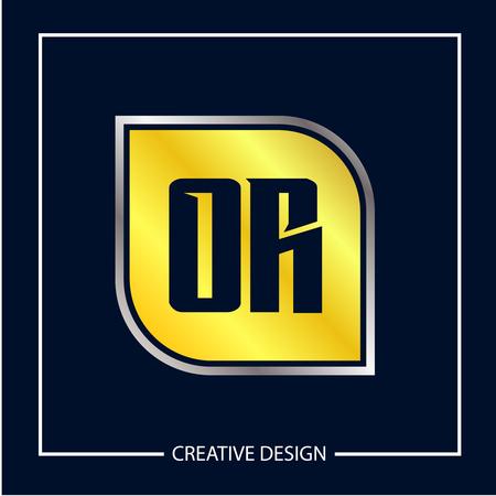 Initial Letter OR Logo Template Design Ilustração