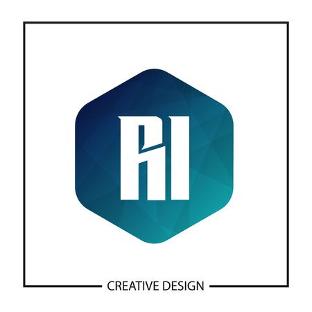Initial Letter RI Logo Template Design Stock fotó - 112646221
