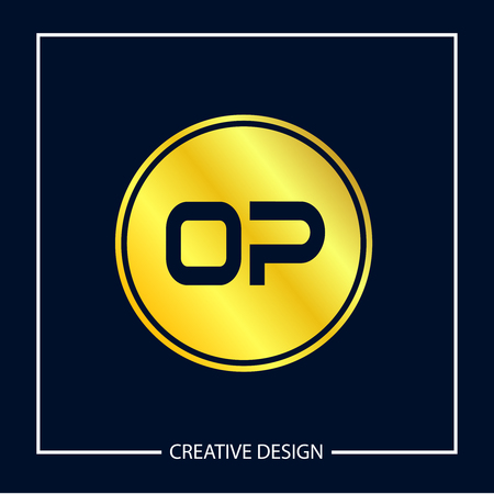 Initial Letter OP Logo Template Design