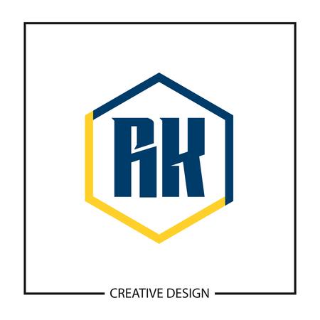 Initial Letter RK Logo Template Design Logó