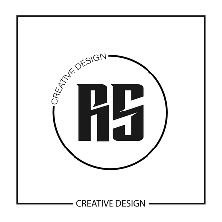 Initial Letter RS Logo Template Design Logó