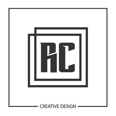 Initial Letter RC Logo Template Design Logó
