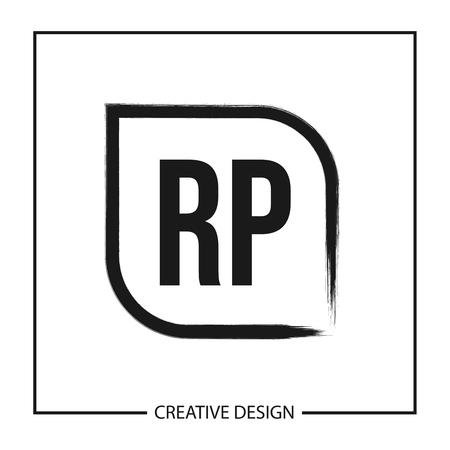 Initial Letter RP Logo Template Design