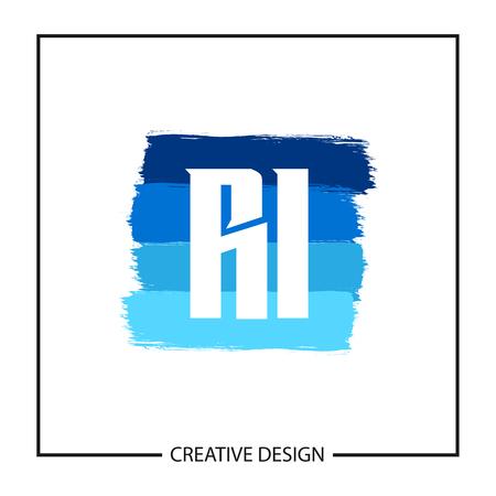 Initial Letter RI Logo Template Design